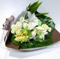 ホワイト×グリーン スタンダード花束