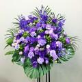 スタンド花1段 バラ 開店祝い 楽屋花 公演祝 紫