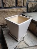インテリア白陶器鉢