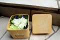 木製のボックスアレンジメント ホワイト系