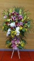 豪華なスタンド花(デザイナーズ2段)