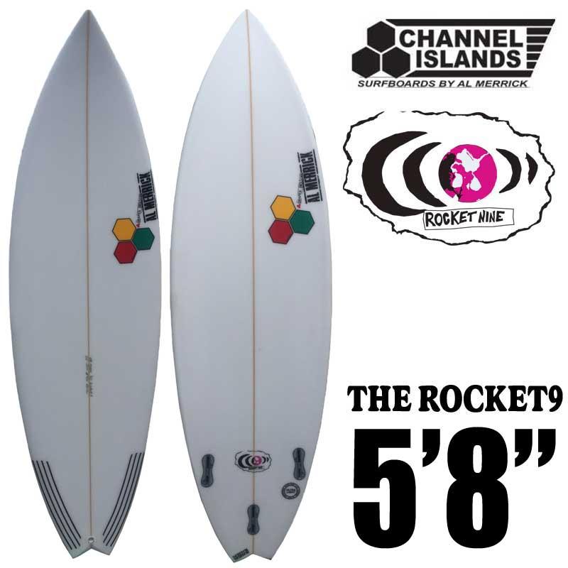 ショートボード CHANNEL ISLANDS チャネルアイランズ THE ROCKET9  5'8 ロケット9◆PUサーフボード