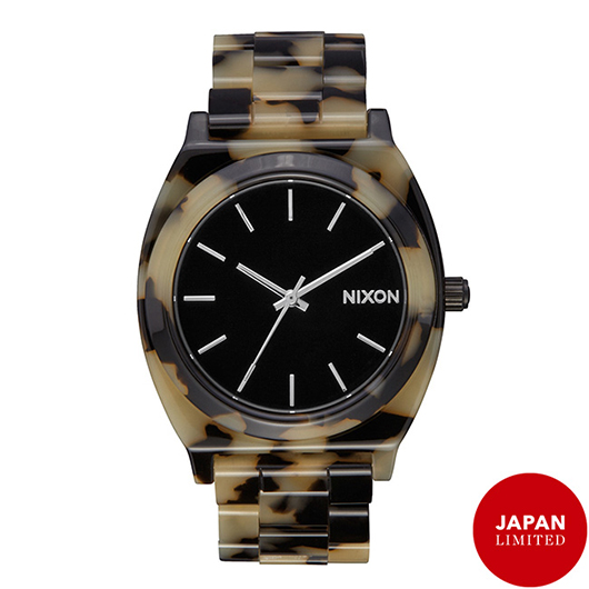 NIXON ニクソン腕時計 THE TIME TELLER ACETATE TORTOISE/CREAM/メンズ
