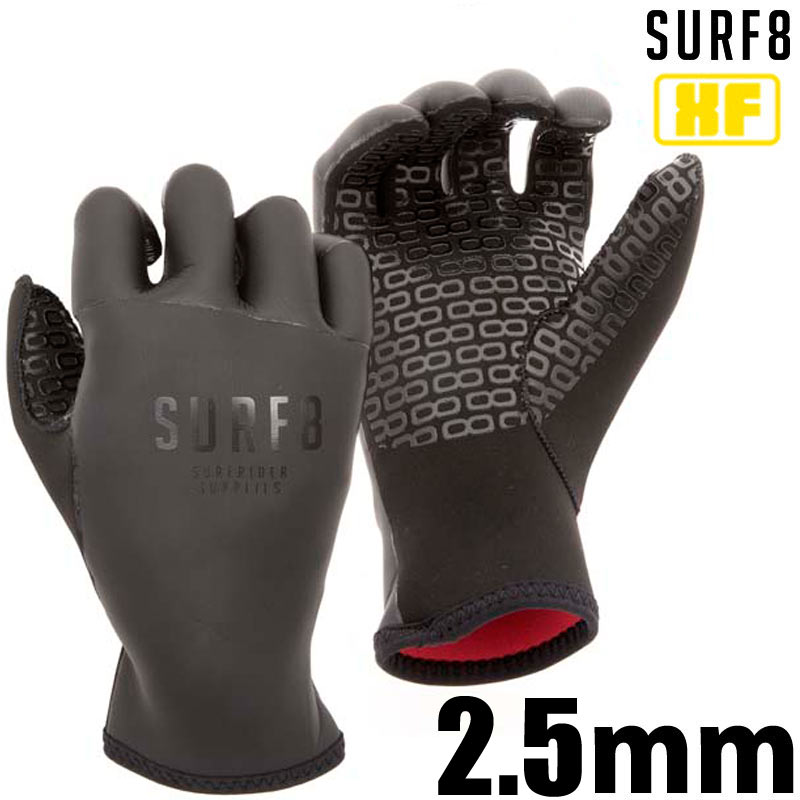SURF8 2.5mm 手の平ジャージグローブ 86F2W5 PADDLE GLOVES X-FLEX/サーフエイト 手袋 防寒サーフ用品