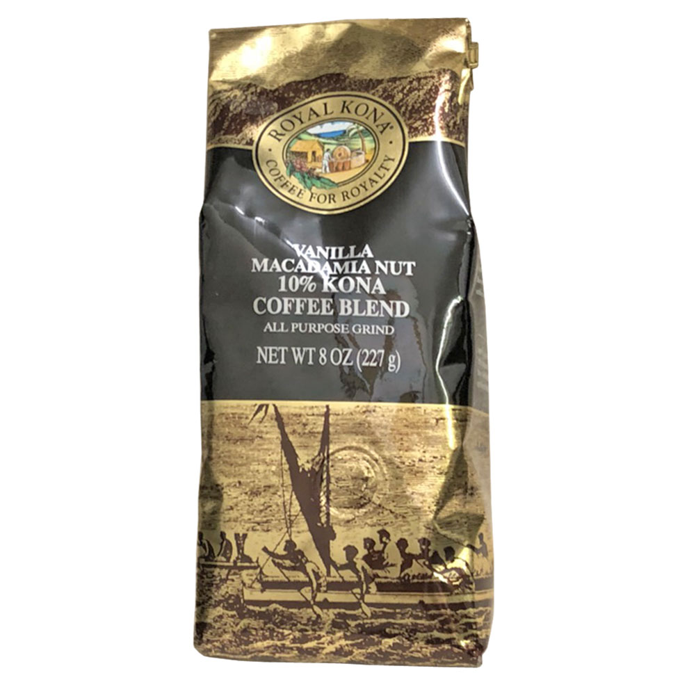 ROYAL KONA Coffee ロイヤルコナコーヒー  10% Kona CoffeeBlend Vanilla Macadamia  8oz 227g/バニラマカダミア