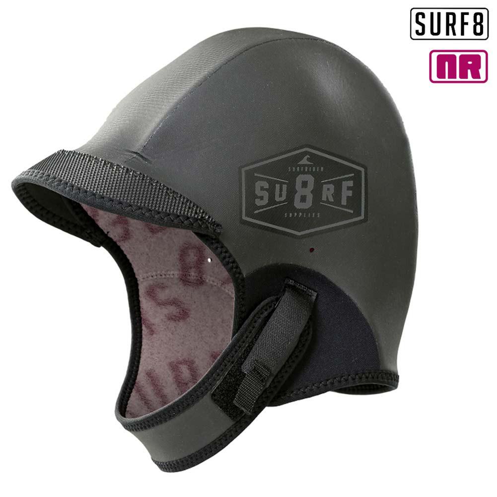 SURF8 サーフエイト 3mm ラバーサーモキャップ アジャスタブル RUBBER CAP 88F3R4/防寒サーフ用品 遠赤起毛 NANORED