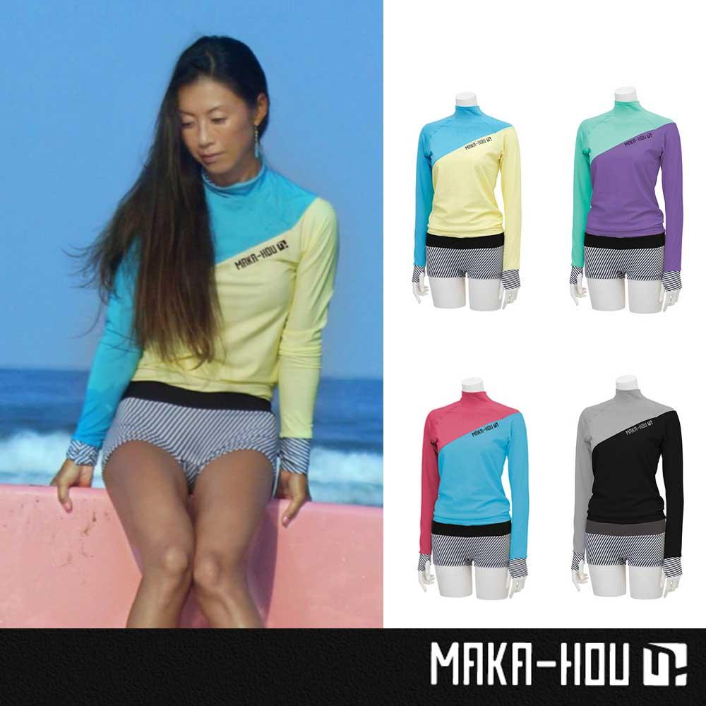 MAKA-HOU レディースラッシュガード Turtle Neck with Hot Pants 25W04/71S/UVカット 紫外線対策 女性用