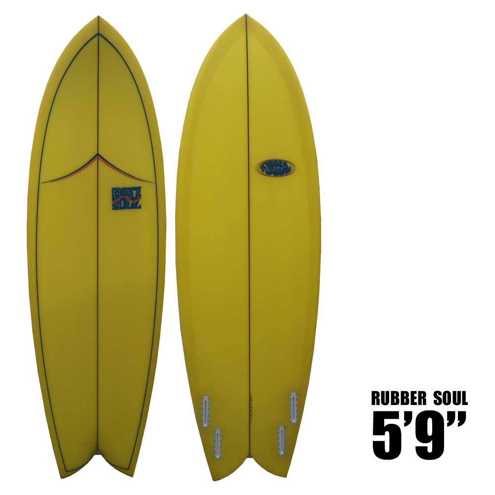 RUBBER SOUL SURFBOARD Fishes 5'9 ラバーソウルサーフボード/ショートボード