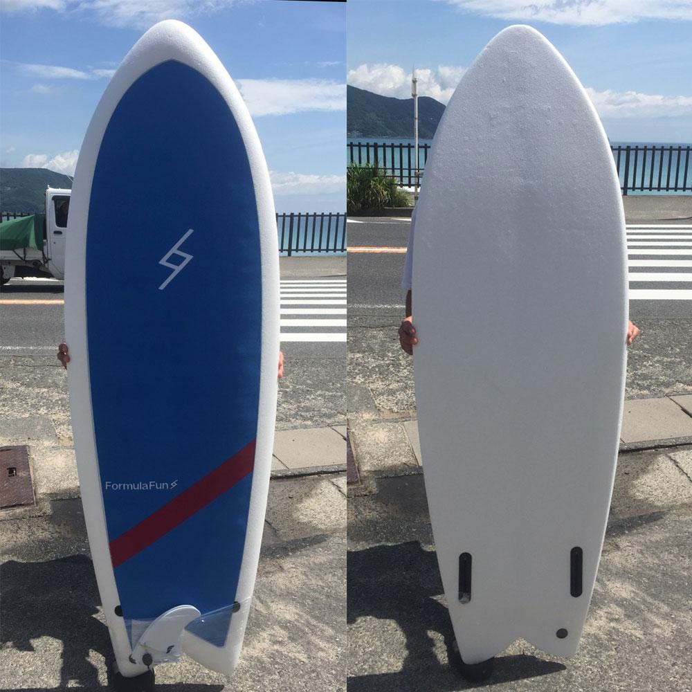 "Formula Fun 5'3"" FISH WHITE-SKY BLUE/フォーミュラ ファン サーフボード ソフトボード ソフトサーフボード"