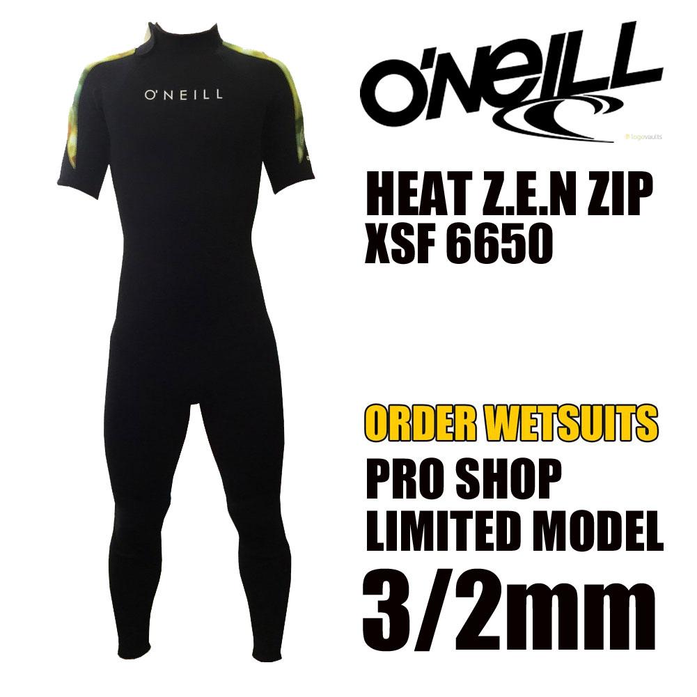 オニールウェットスーツ 3/2mm シーガル HEAT Z.E.N ZIP PRO SHOP LIMITED MODEL  XSF 6650