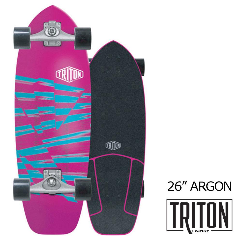 子供用 スケートボード コンプリート カーバースケートボードトリトン アルゴン 26インチ CARVER SKATEBOARDS TRITON TRITON ARGON