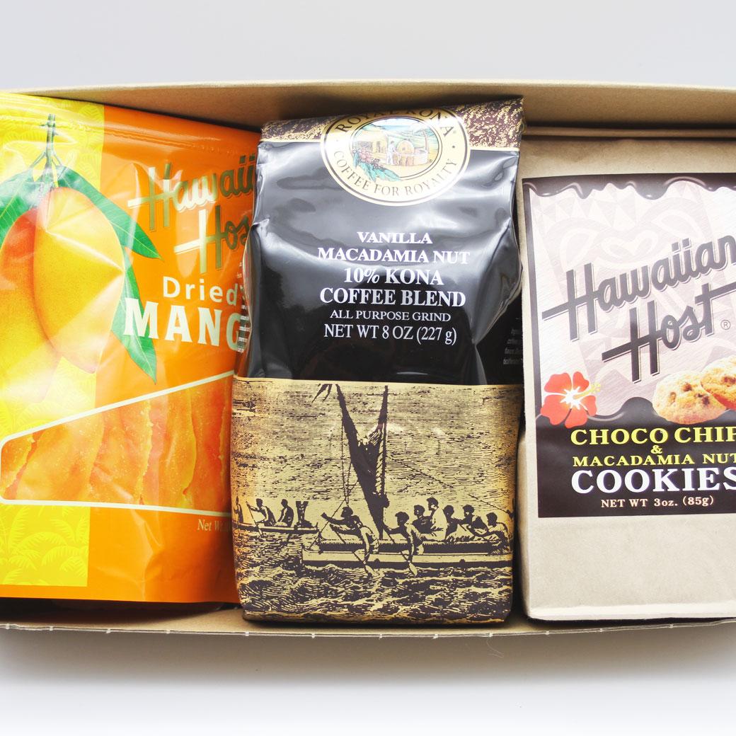 コーヒー スイーツ セット 3点 チョコチップクッキー/ドライマンゴー/コナコーヒー セット