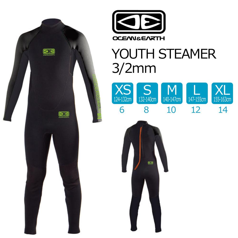 子供用ウェットスーツ OCEAN & EARTH YOUTH STEAMER 3mm×2mm