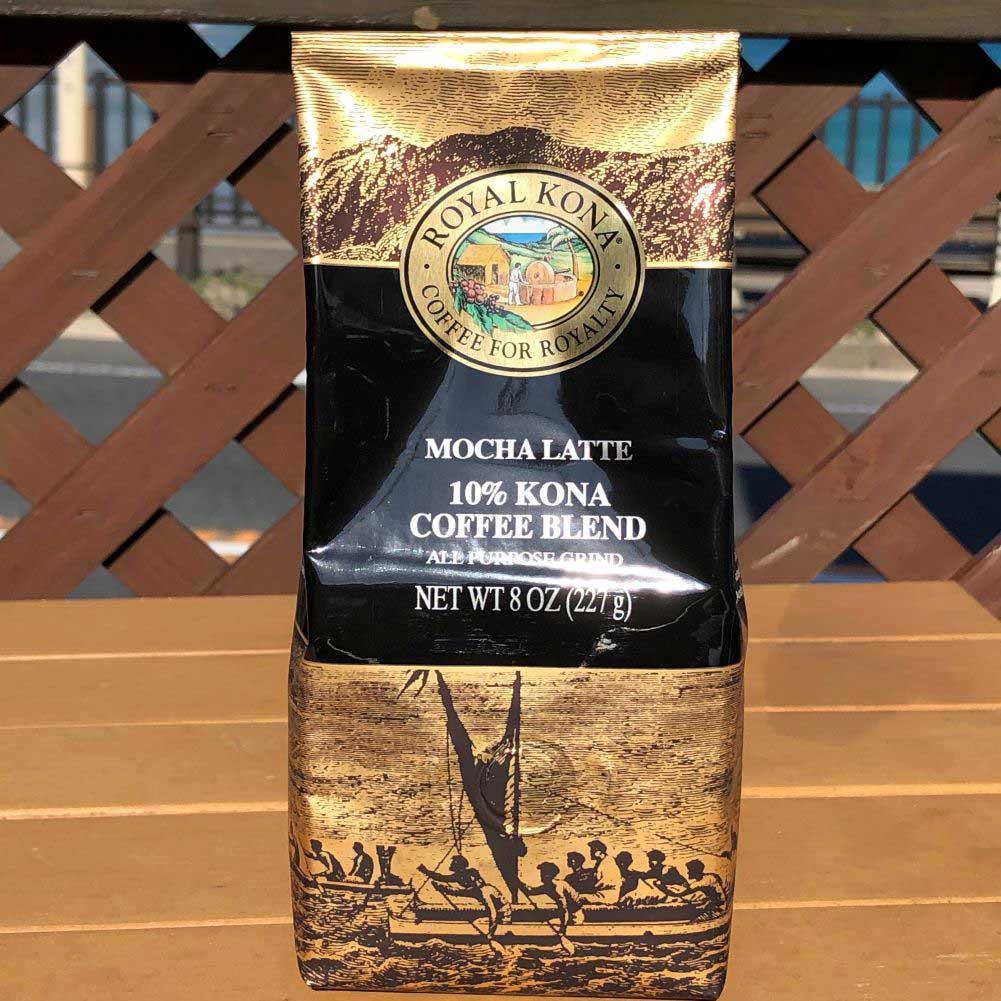 ROYAL KONA Coffee ロイヤルコナコーヒー  10% Kona CoffeeBlend モカラテ 8oz 227g