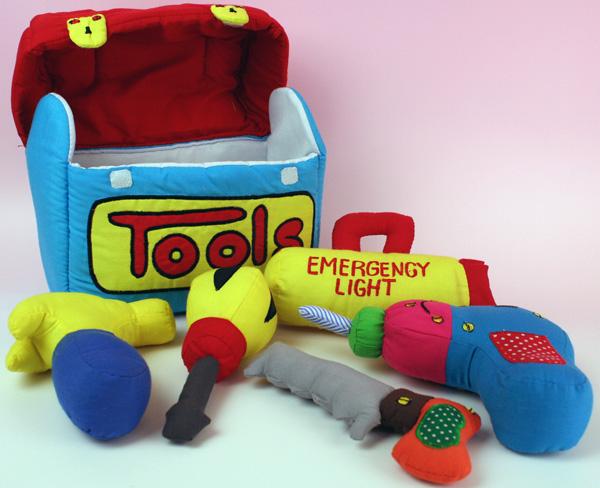 ハワイアンキルトグッズ おもちゃおままごとセット『TOOLS?トゥールズ』/ハワイアン雑貨インテリア 知育おもちゃ