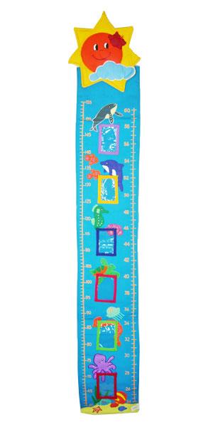 ハワイアンキルトグッズ すくすく身長計『うみのなか』/ハワイアン雑貨インテリア 知育おもちゃ