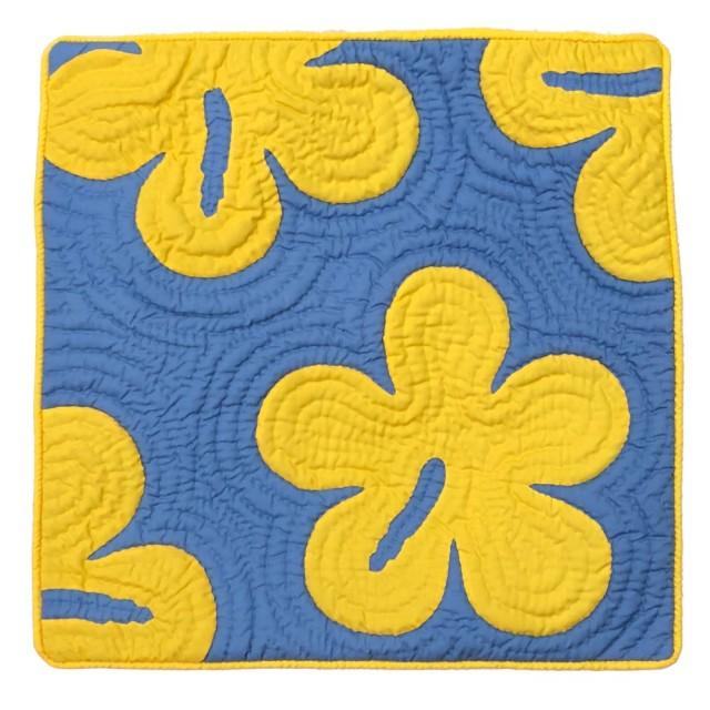 ハワイアンキルト クッションカバー 46×46 ハイビスカス /ハワイアン雑貨 インテリア