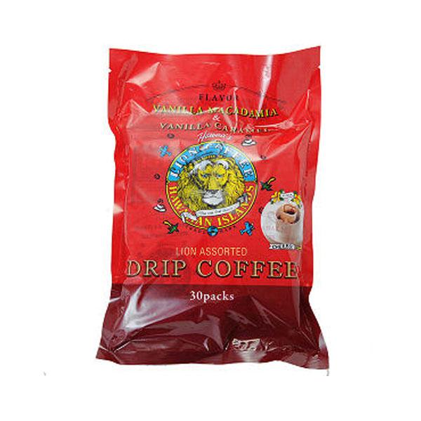 ライオンコーヒー ドリップパック30パック バニラマカダミア バニラキャラメル/ハワイアンコーヒー