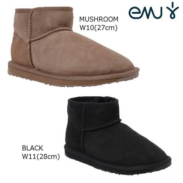 【30%OFF】【現品限り】EMU エミュー シープスキンブーツ STINGER MICRO スティンガーミクロ MUSHROOMW/10(27cm) BLACK/W11(28cm)ユニセックスシープスキンブーツ ムートンブーツ