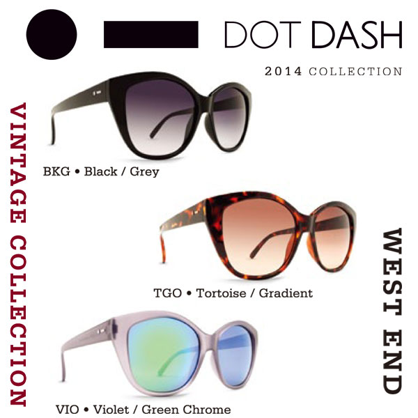 DOT DASH ドットダッシュサングラス WEST END