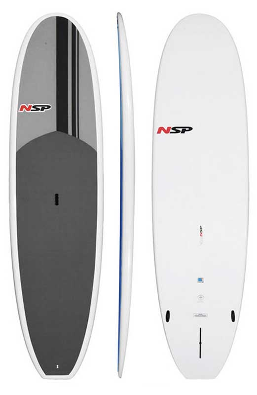 NSPサーフボード スタンドアップパドルボード  E2 SUP 10'2 Grey Classic /エポキシボード 初心者用サーフボード サーフィン