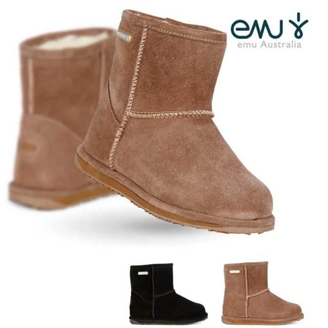 EMU キッズ シープスキンブーツ BRUMBY MINI/防水ブーツ スウェードブーツ