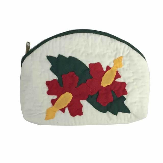 ハワイアンキルト Hawaiian Quilt  ポーチ / レディースバッグ 小物入れ 化粧ポーチ