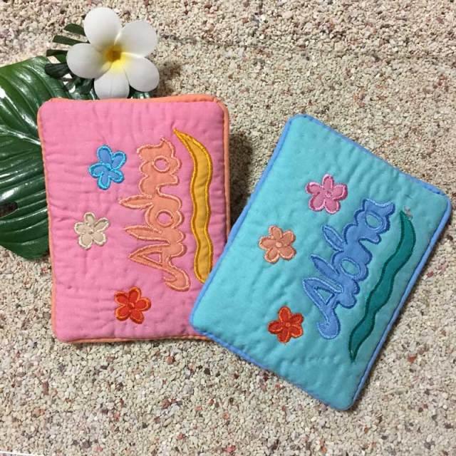 ハワイアンキルト Hawaiian Quilt  ポケットティッシュケース ハイビスカス柄