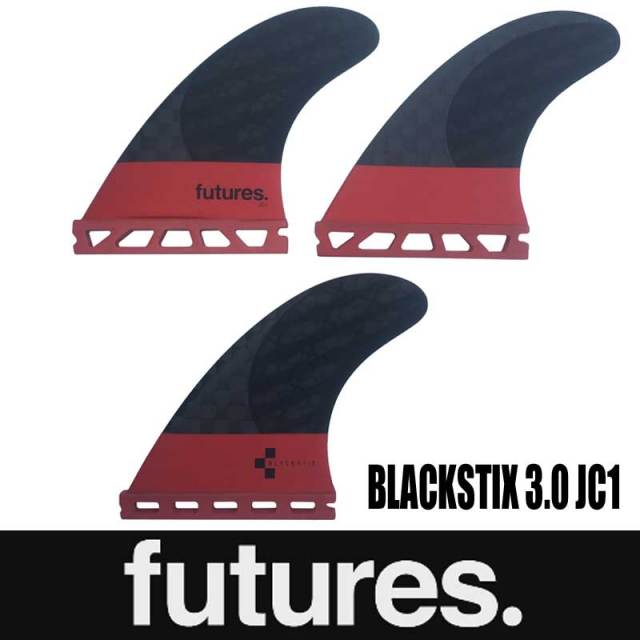 FUTURES FIN BLACKSTIX 3.0 JC1 3FIN/FUTURE FINS ショートボードフィン サーフィン