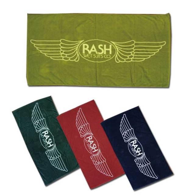 RASH ラッシュビーチタオル 羽マーク/RASH アパレルアクセサリー ラッシュウェットスーツ