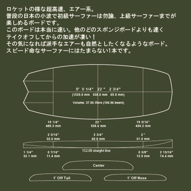 ショートボード BLACK JOKE 5'0 MSF-50XX ソフトサーフボード