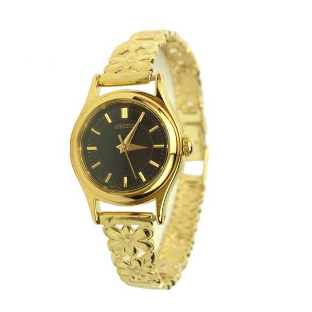 ハワイアンジュエリー ゴールド時計K14ゴールドブレスウォッチ 「ハワイアンフラワー」