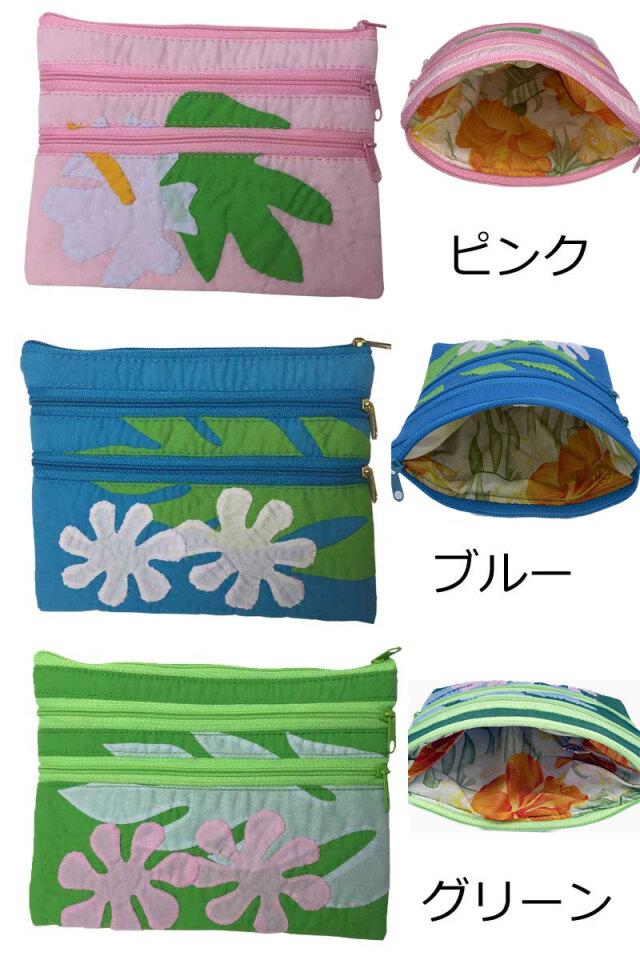 ハワイアンキルト Hawaiian Quilt ポーチ 小物入れ ペンケース/財布 小銭入れ 小物入れ