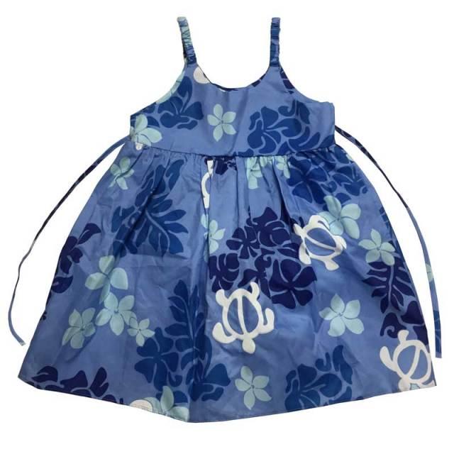 子供服ハワイアン キッズワンピース コットン 7歳~8歳/女の子用ワンピース