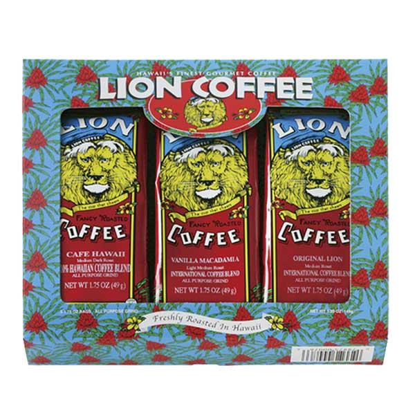 LION COFFEE ライオンコーヒー3種ギフトセット 49g×3パック