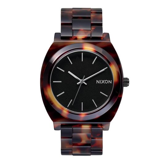 NIXON ニクソン腕時計 THE TIME TELLER ACETATE TORTOISE/GOLD