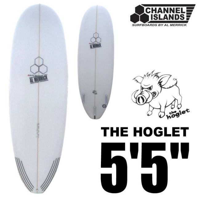 """チャネルアイランド サーフボード HOGLET 5'5"""" スカッシュテール 1TAB FUTURE FIN/アルメリック ファンボード サーフィン"""