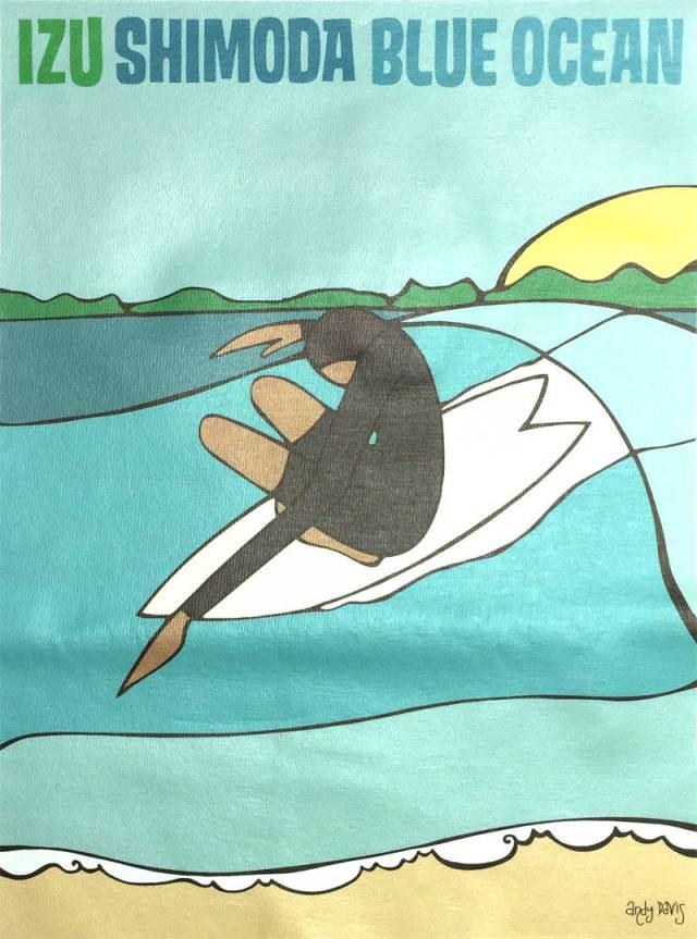 Andy Davis IZU SIMODA BLUE OCEAN T-Shirts/メンズウェア サーフィン