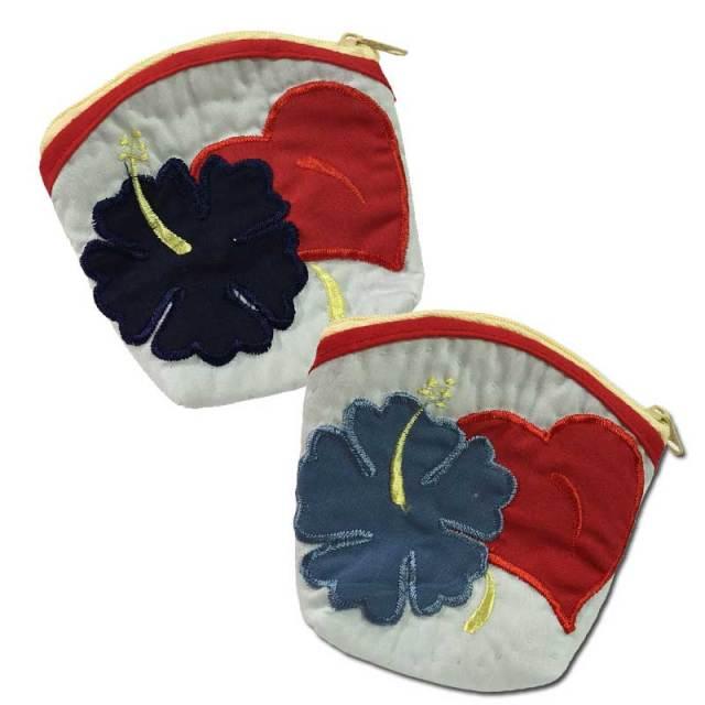 【目玉商品】ハワイアンキルト Hawaiian Quilt ハイビスカスコインケース【ゆうパケット対応】