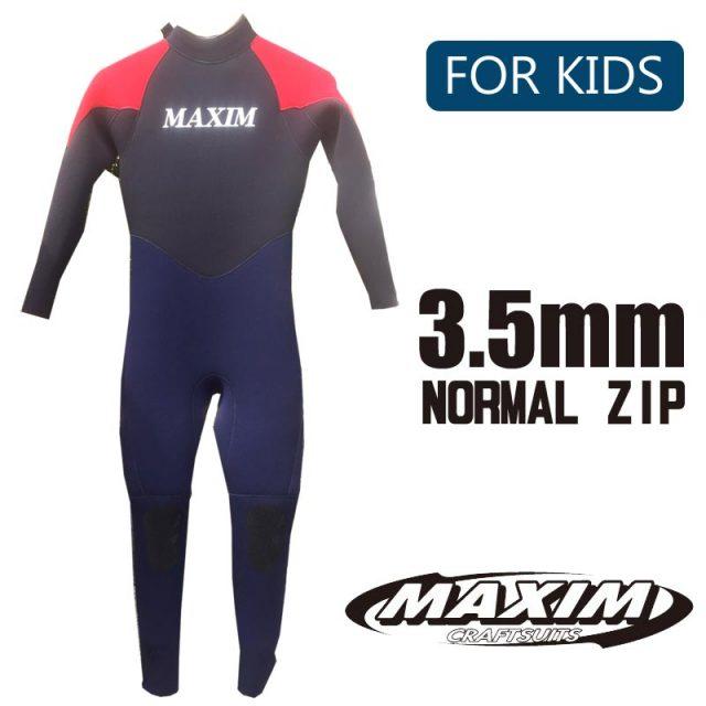 子供用ウェットスーツ MAXIM & MARINER マキシム&マリーナ  3.5mmALL フルスーツ ノーマルジップ
