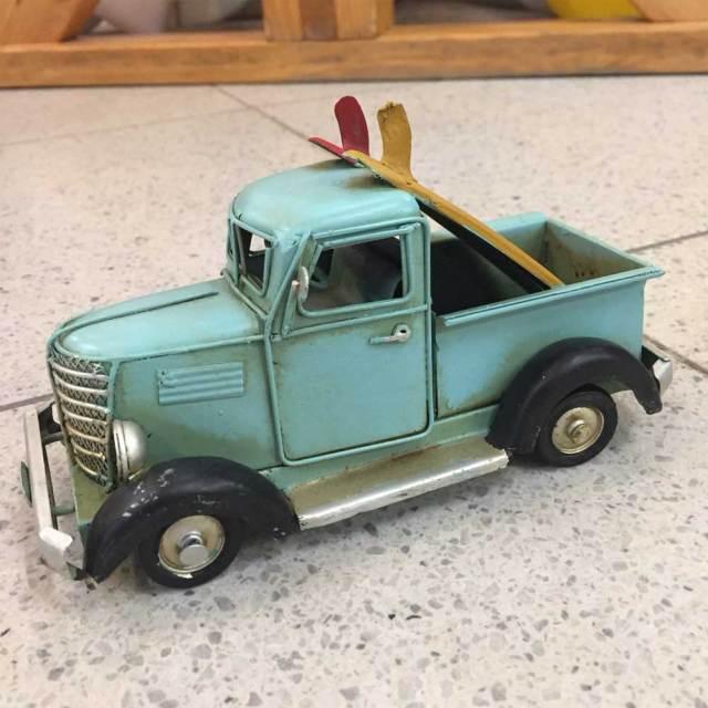 ブリキのおもちゃヴィンテージカー サーフトラック Surf Truck BLUE/0410A-7138/ブリキ製インテリア
