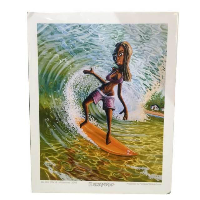 絵画 CALIFORNIA COLLECTION カリフォルニアコレクション  Peter Pierce GO GIRL/サーフアート プリントアート