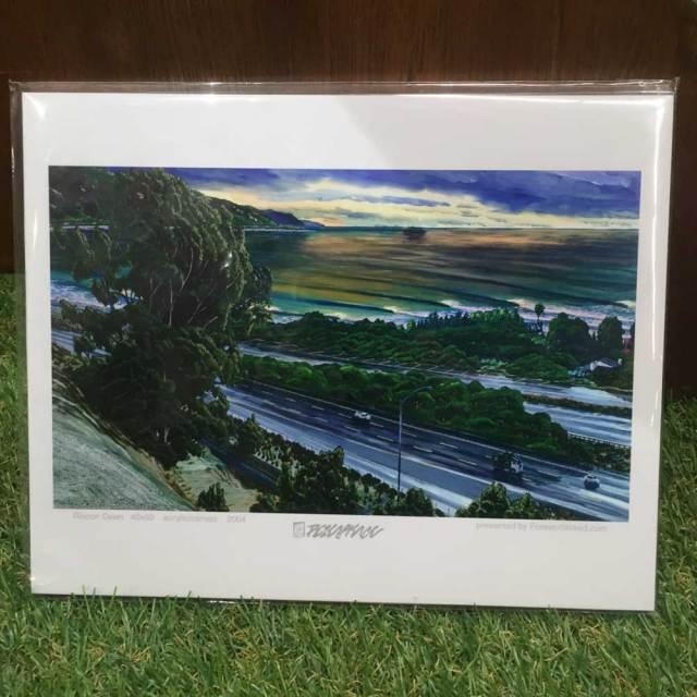 絵画 CALIFORNIA COLLECTION カリフォルニアコレクション  Peter Pierce RINCON DAWN/サーフアート プリントアート