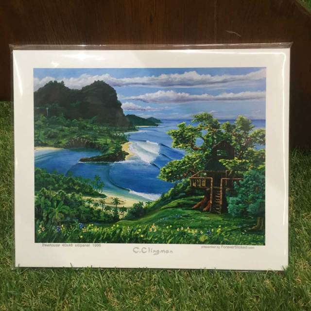 絵画 CALIFORNIA COLLECTION カリフォルニアコレクション  Charlie Clingman TREEHOUSE/サーフアート プリントアート