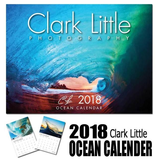 【予約販売】2018年 Clark Little OCEAN CALENDER クラーク・リトルカレンダー 2018/サーフインテリア