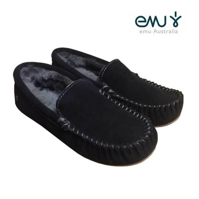 EMU エミュー CAIRNS ケアンズ シープスキンモカシン BLACK