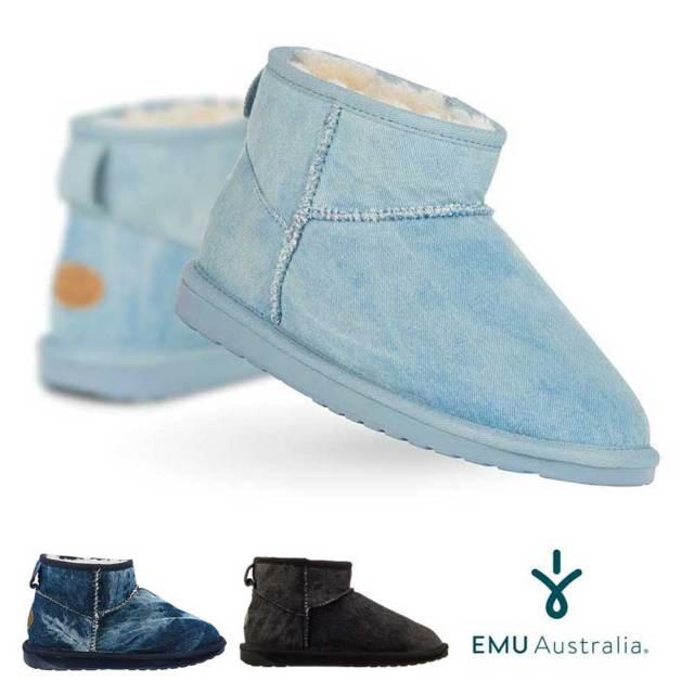 【10%OFF】EMU シープスキンブーツ STINGER DENIM MICRO スティンガーデニムミクロ/ユニセックス ムートンブーツ