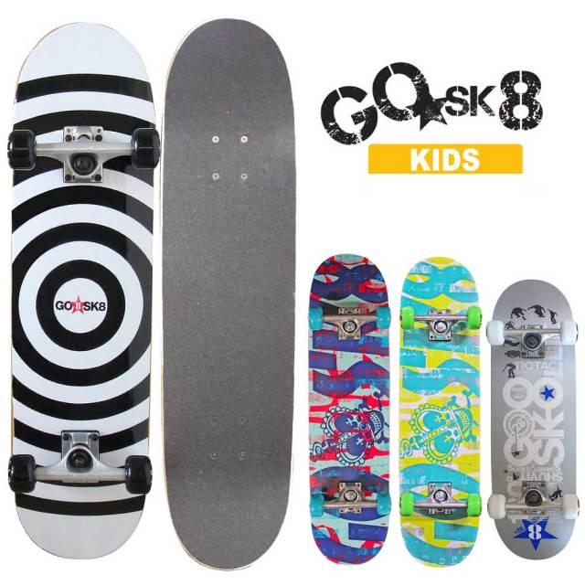 GO★SK8スケートボード子供用 ゴースケート/GOSK8 キッズコンプリートスケートボード