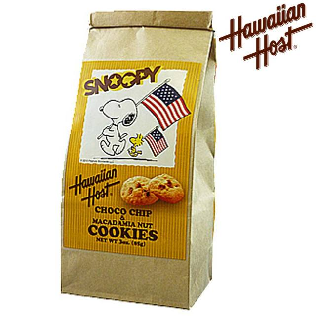Hawaiian Host スヌーピー チョコチップマカデミアナッツクッキー/ハワイお土産 プチギフト バレンタイン ホワイトデー