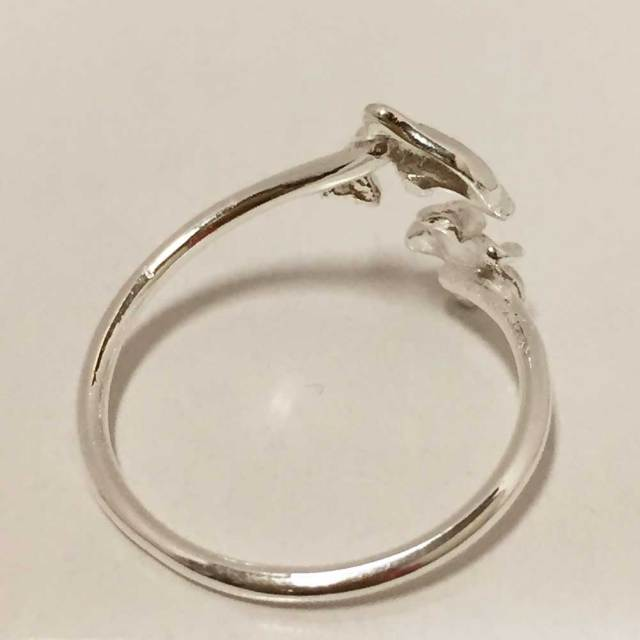 ハワイアンジュエリー シルバートゥーリング イルカ×プルメリア/ピンキーリング Toe Ring 足用 指輪